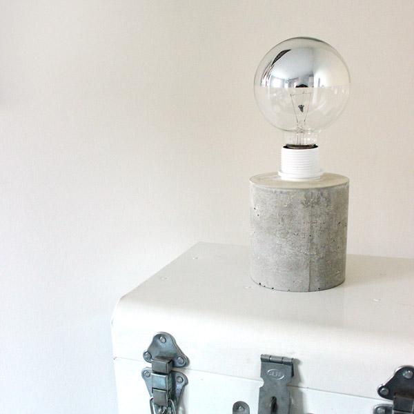 diy lampe en b ton cr atif perles co. Black Bedroom Furniture Sets. Home Design Ideas