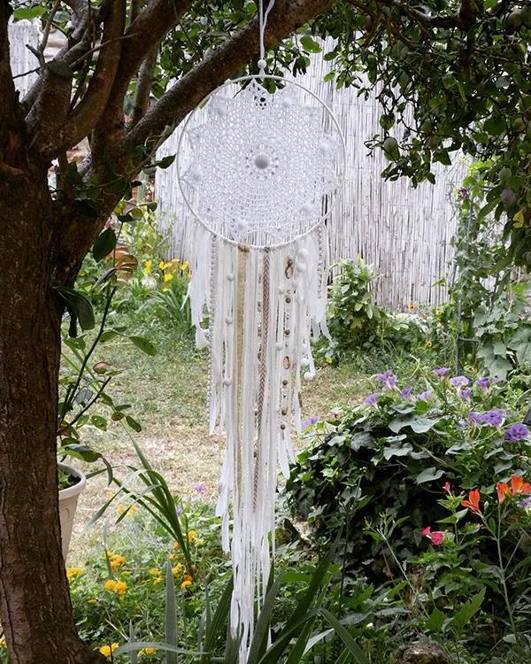 Dreamcatcher attrape r ve diy facile napperon au crochet for Jardin et la lune