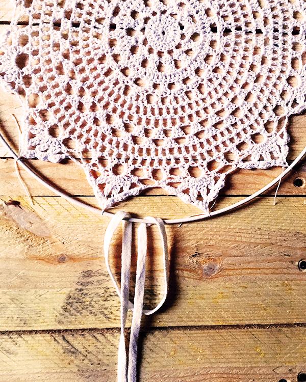 Dreamcatcher Attrape Reve Diy Facile Napperon Au Crochet Dentelle Et