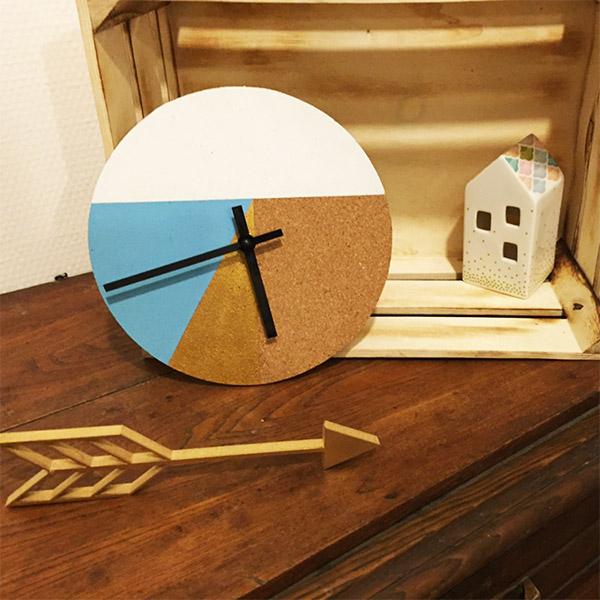 diy fabriquer une horloge murale graphique perles co. Black Bedroom Furniture Sets. Home Design Ideas