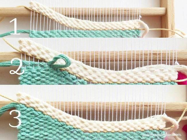 diy d co tissage mural perles co. Black Bedroom Furniture Sets. Home Design Ideas