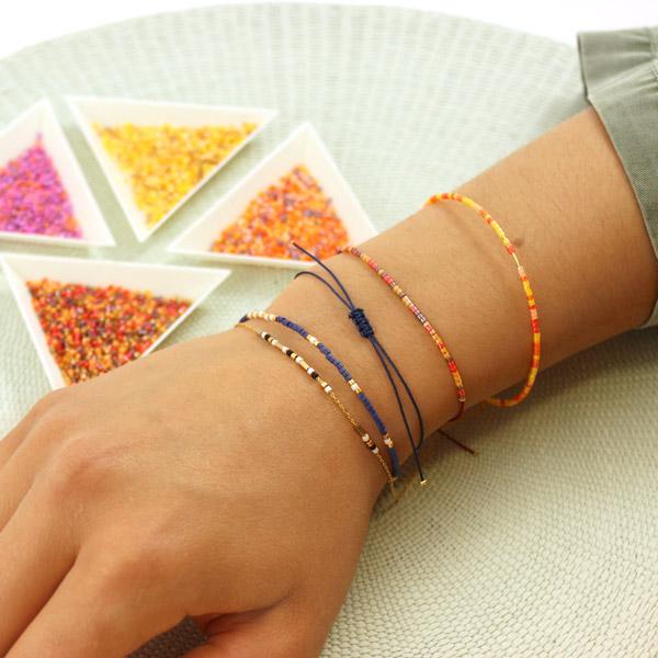 Bracelets Miyuki ultra,simples et Créoles
