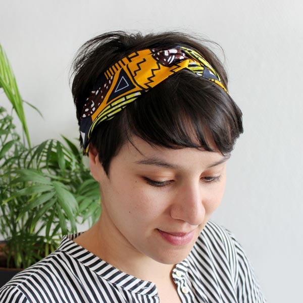 style populaire Excellente qualité vente en ligne DIY Bandeau Turban en Wax avec élastique - Perles & Co
