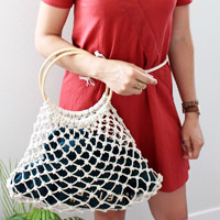 Tutoriel macramé facile : Sac filet à provision