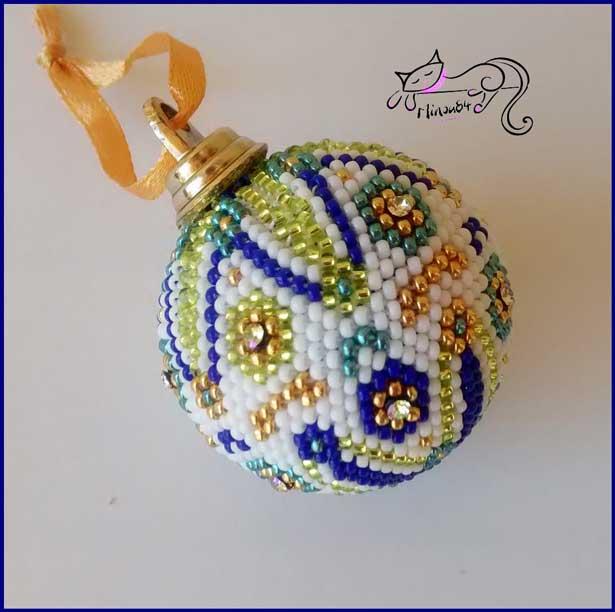 Kit Creation Boule De Noel.Diy Boule De Noël En Crochet Perlé Et Crystal Mesh Perles Co