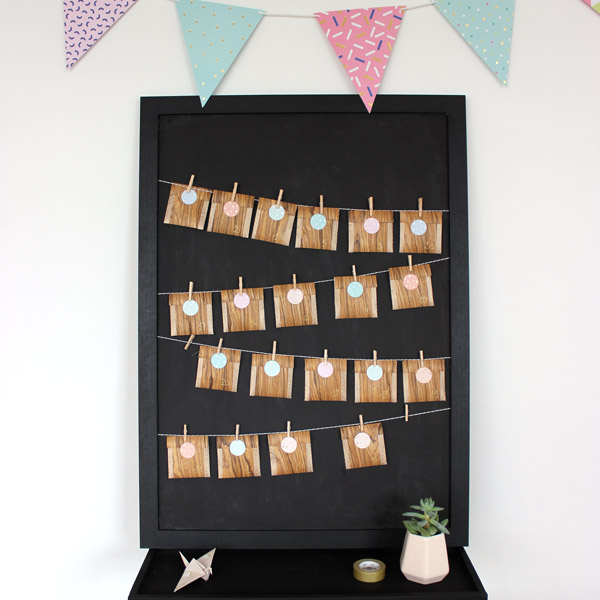 diy calendrier de l 39 avent pour sachets de th avec tissu. Black Bedroom Furniture Sets. Home Design Ideas