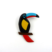 Broche toucan polymere