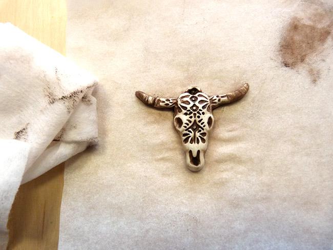 diy d co t te de buffle porte bagues perles co. Black Bedroom Furniture Sets. Home Design Ideas