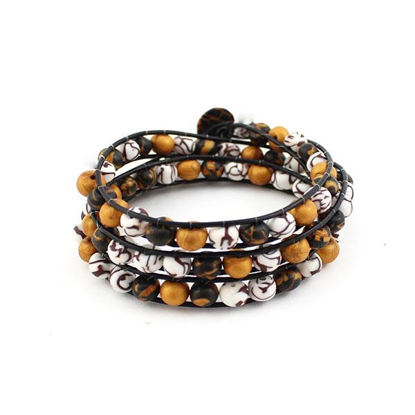 bracelet wrap en p te polym re perles co. Black Bedroom Furniture Sets. Home Design Ideas