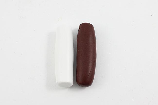 2 trou cylindre argent-plastique Cordon LIEGE