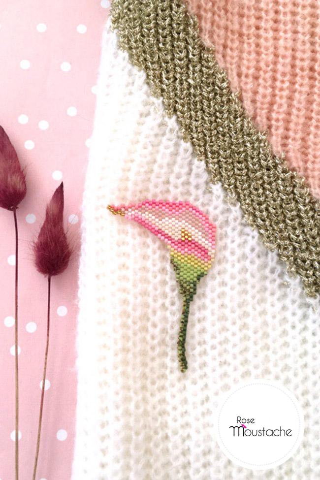 Coloriage Fleur Arum.Diy Tissage Fleur Arum En Perles Miyuki Delicas Perles Co