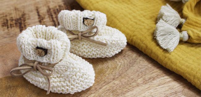 info pour bbe4f 91dcc Chausson bébé au tricot facile pour débutant - cadeau de ...