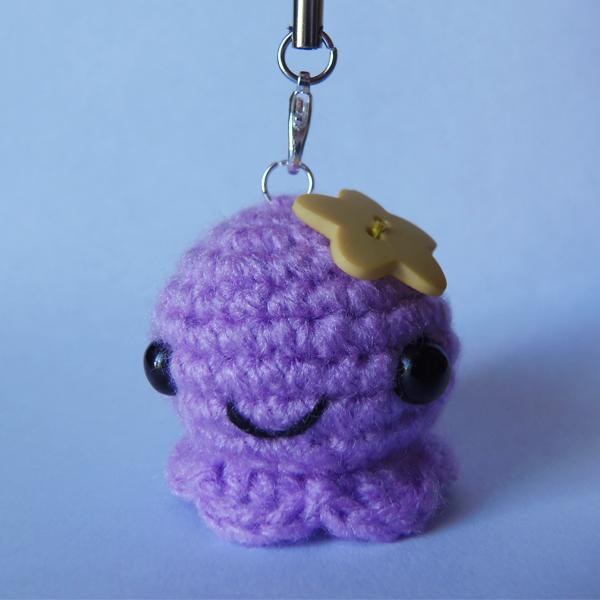 Porte-clés Pieuvre Amigurumi en crochet - Perles & Co