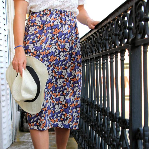 Jupe lastique facile avec du tissu l ger atelier brunette perles co - Tuto jupe facile elastique ...