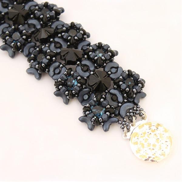 bracelet manchette en perles minos arcos et super duo perles co. Black Bedroom Furniture Sets. Home Design Ideas