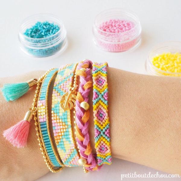 Diy Bracelet Multirangs Bresilien Tresse Et Tissage Miyuki Perles