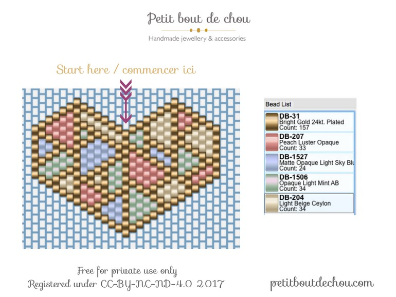 Diy Tissage Brick Stitch Facile Coeur Pastel Origami A Offrir