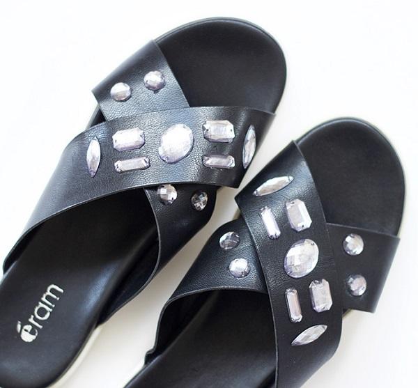 Customisation Diamond Sandales Avec Perlesamp; Des De Black Pierres Co R4cAL35jq