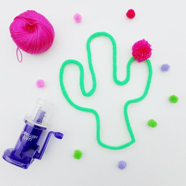 DIY déco - Cactus au tricotin