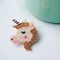 Motif licorne pour tissage brickstitch par Rose Moustache