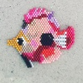 Tissage brick stitch poisson tropical