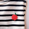 Broche Big Apple en tissage brick stitch