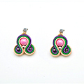 DIY facile boucles d'oreilles en soutache