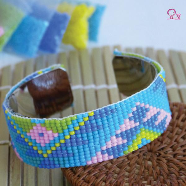 Bracelet large perle de rocaille
