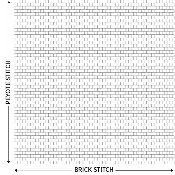 schema tissage peyote
