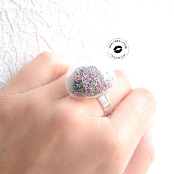 microsfere di vetro anello PoP cupola e guarnire