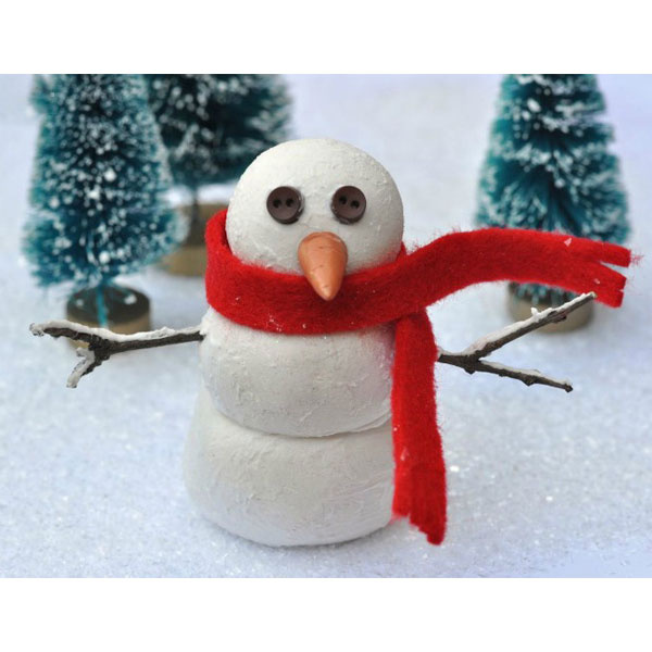 Bonhomme de neige en p te modeler perles co - Bonhomme de neige en laine ...