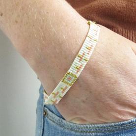 Bracelet tissage Pastel Miyuki Delicas