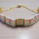 Pastell gewebtes Armband mit Miyuki Delicas