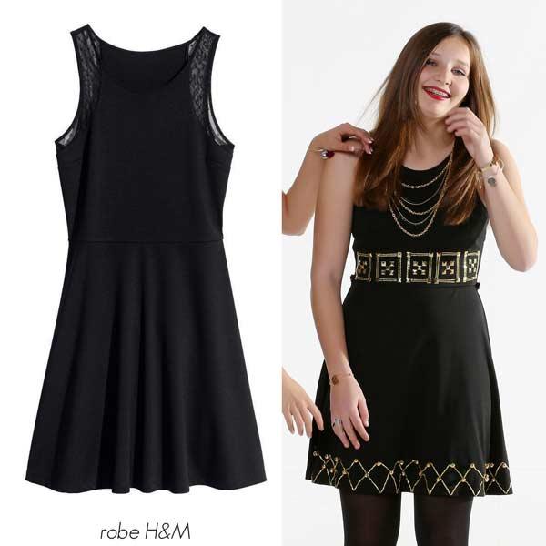 Customiser une robe noire avec des perles
