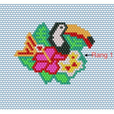 toucan fleur brick stitch tissage de perles miyuki perles co. Black Bedroom Furniture Sets. Home Design Ideas