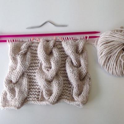 Tricoter Un Snood Torsadé Laine Rico Essentials Perles Co