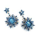 Creazione di perline di vetro e orecchini di perle Swarovski Prong