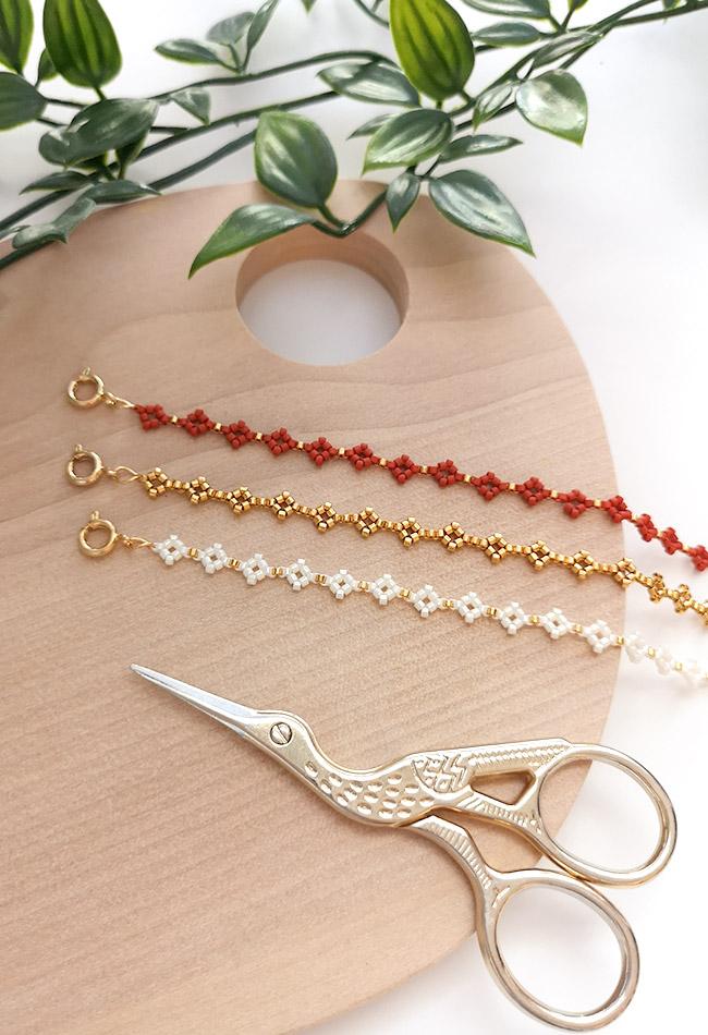 DIY miyuki mini diamante o margarita pulseras de perlas pinterest