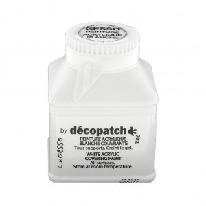 le gesso par decopatch peinture acrylique blanche couvrante x70 perles co. Black Bedroom Furniture Sets. Home Design Ideas