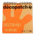 Bloc Decopad par Decopatch 15x15 cm - Orange x48