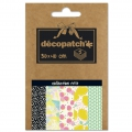 Papier Decopatch Pocket 30x40 cm - collection n°17 x5