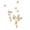 Tubes à écraser 1.2x1.6 mm Gold filled 14 carats x50