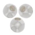 Perles stoppeur 3 mm avec un trou de 0.6 mm en Argent 925 x2
