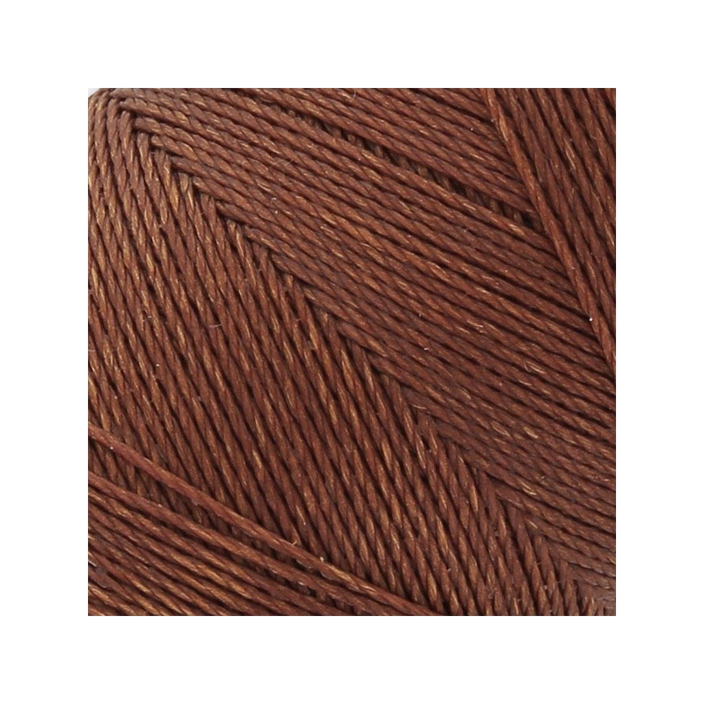 bobine de fil cir linhasita pour micro macram mm marron 63 perles co. Black Bedroom Furniture Sets. Home Design Ideas