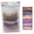 Lot 6 fibres Angelina Straight Cut Fibers Sampler Hot fix Classic