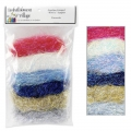 Lot 6 fibres Angelina Straight Cut Fibers Sampler Hot fix Fireworks