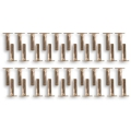 Rivets 4 mm en laiton naturel x40