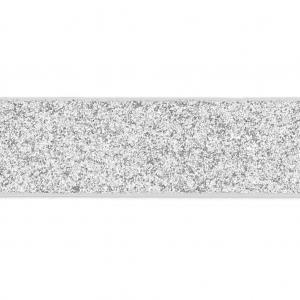 39577b74d28 Ruban fantaisie pailleté imitation cuir 10 mm Silver Glitter x1.2m ...