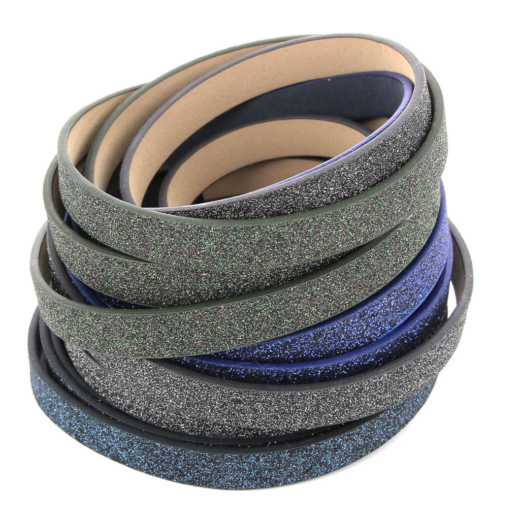 f0a72b233f0 ... Ruban fantaisie pailleté imitation cuir 10 mm Black Glitter x1.2m ...