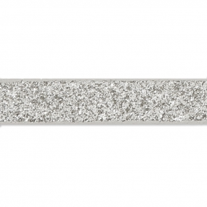 7afdf369393 Ruban fantaisie pailleté imitation cuir 5 mm Silver Glitter x1.2m ...